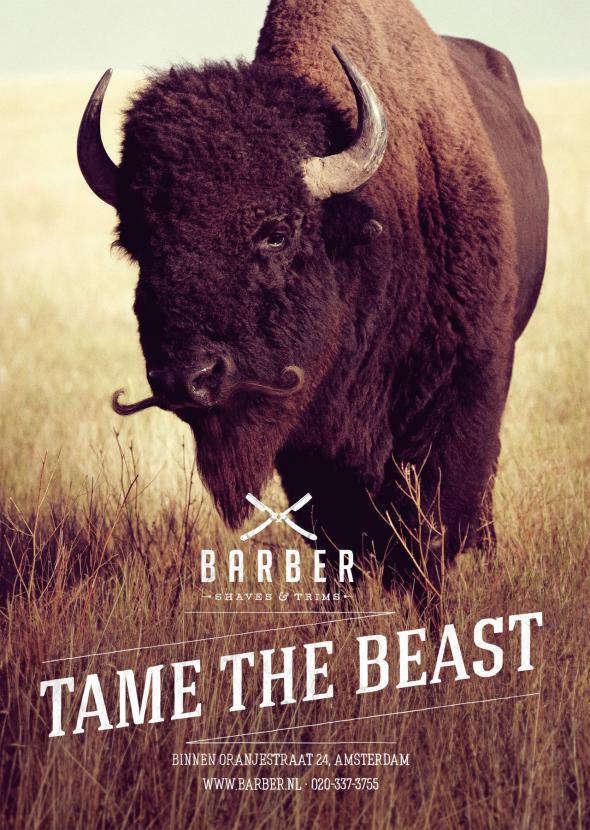 campagne communication barber_shaves_trims_tame_the_beast_bison