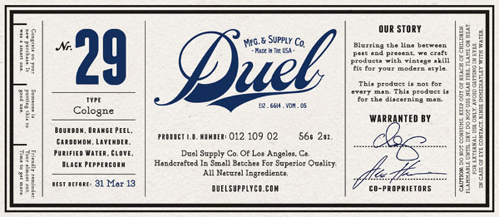 duel design packaging identity logo