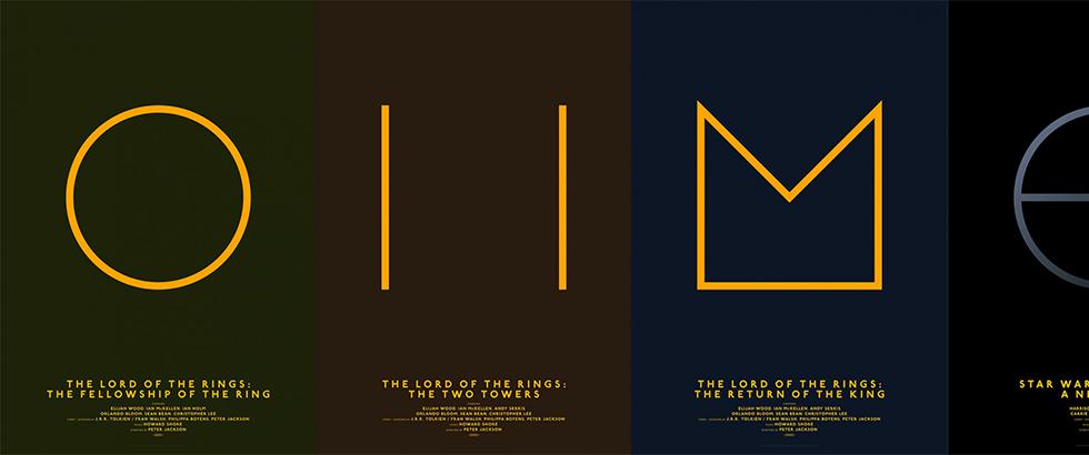 Design minimaliste films l gendaires par michal krasnopolski for Design minimaliste