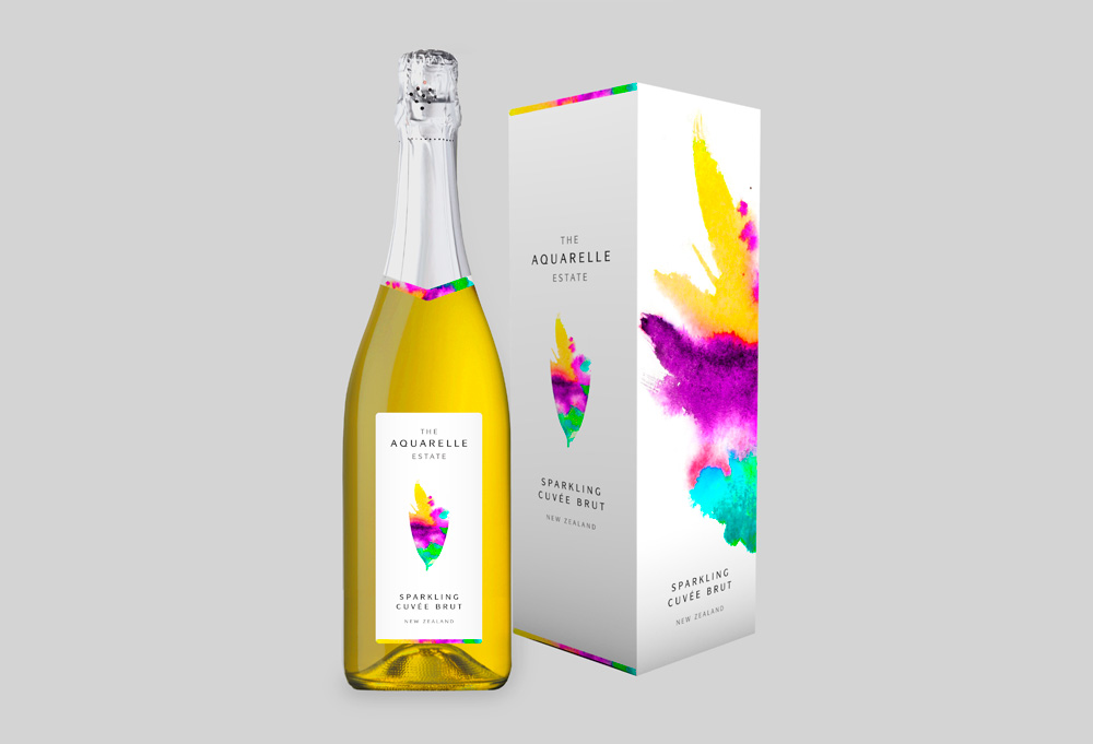 design packaging aquarelle