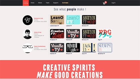 font you typographie creative